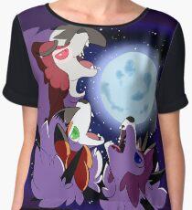 Three Lycanroc Moon Chiffon Top