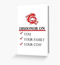 Mushu Dishonor Greeting Card