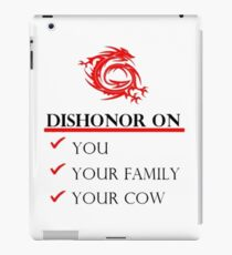 Mushu Dishonor iPad Case/Skin