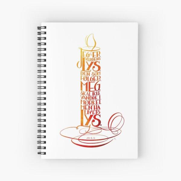Jeg er verdens lys Spiral Notebook