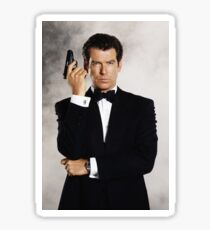 James Bond 007 Pierce Brosnan Tomorrow Never Dies, Die Another Day, Goldeneye, The World is Not Enough Sticker