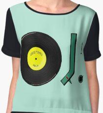 Vinyl Good Times Record Women's Chiffon Top