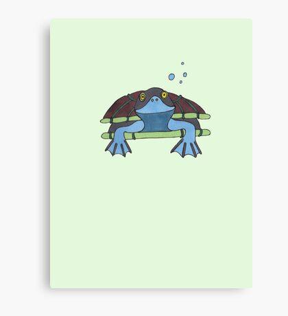Turtle smile Canvas Print
