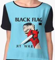 black flag Women's Chiffon Top
