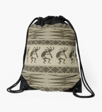 Tribal Kokopelli Pattern Southwest Design Drawstring Bag
