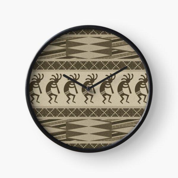 Tribal Kokopelli Pattern Southwest Design Clock