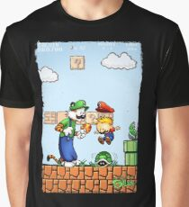 Super Calvin and Hobbes Bros. Graphic T-Shirt