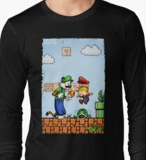 Super Calvin and Hobbes Bros. Long Sleeve T-Shirt