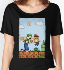 Super Calvin and Hobbes Bros. Women's Relaxed Fit T-Shirt