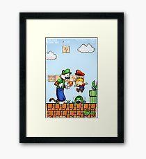 Super Calvin and Hobbes Bros. Framed Print