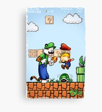 Super Calvin and Hobbes Bros. Canvas Print