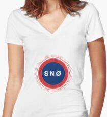 Snow Snø Norway Women's Fitted V-Neck T-Shirt