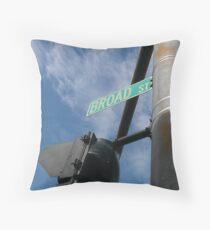 Broad Street Providence Throw Pillow