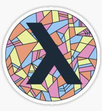 lambda - navy Sticker