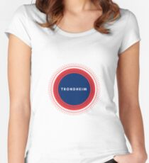 Trondheim Norway Women's Fitted Scoop T-Shirt