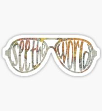 see the world sunglasses map Sticker