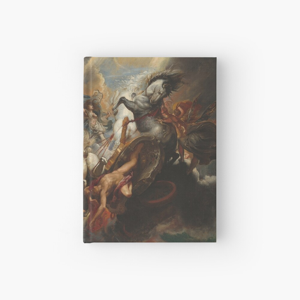 The Fall of Phaeton Oil Painting by Sir Peter Paul Rubens Hardcover Journal
