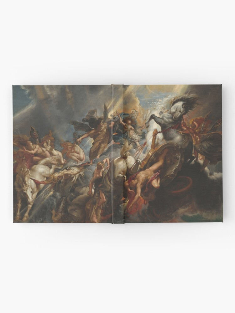 Alternate view of  The Fall of Phaeton Oil Painting by Sir Peter Paul Rubens Hardcover Journal