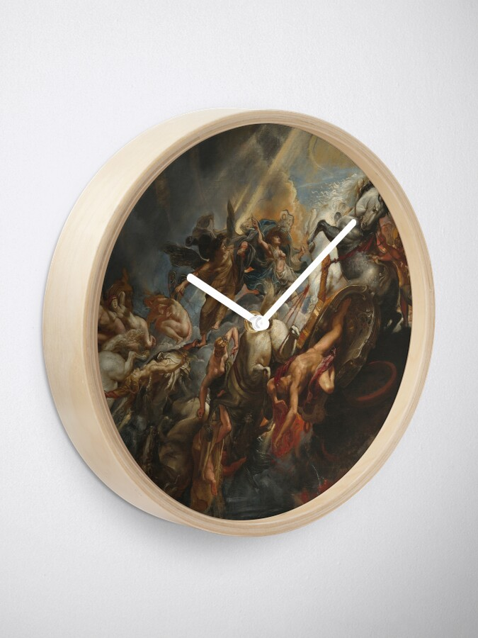 Alternate view of  The Fall of Phaeton Oil Painting by Sir Peter Paul Rubens Clock