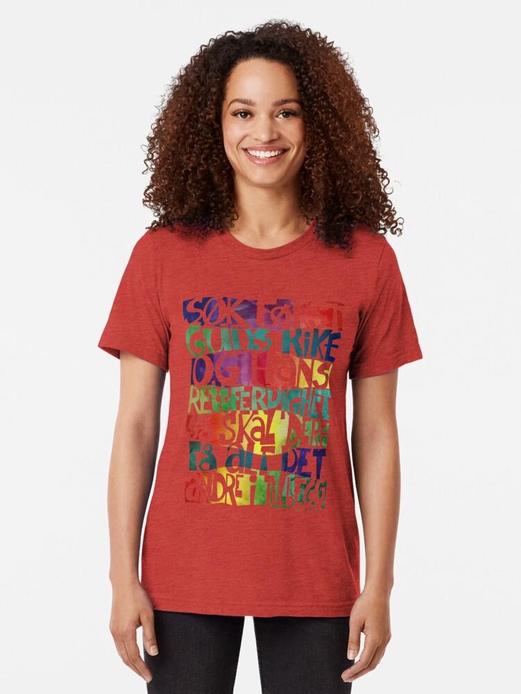 Alternate view of Søk først Guds rike Tri-blend T-Shirt