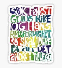 Søk først Guds rike Sticker