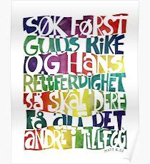 Søk først Guds rike Poster