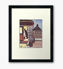 Woman conductress Framed Print