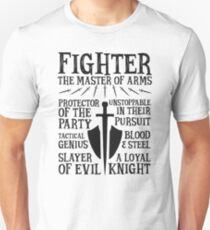 FIGHTER, THE MASTER OF ARMS - Dungeons & Dragons (White) T-Shirt