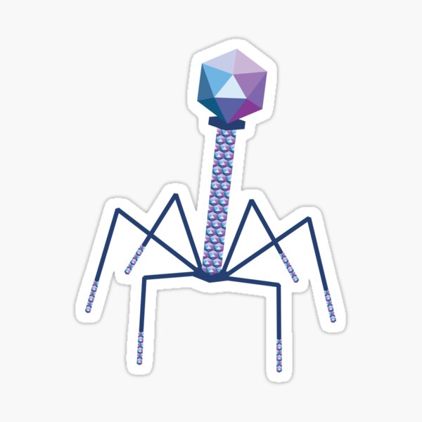 Bacteriophage Sticker