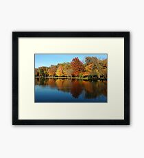 Zen Lake - Peaceful, Tranquil Nature Print Framed Print
