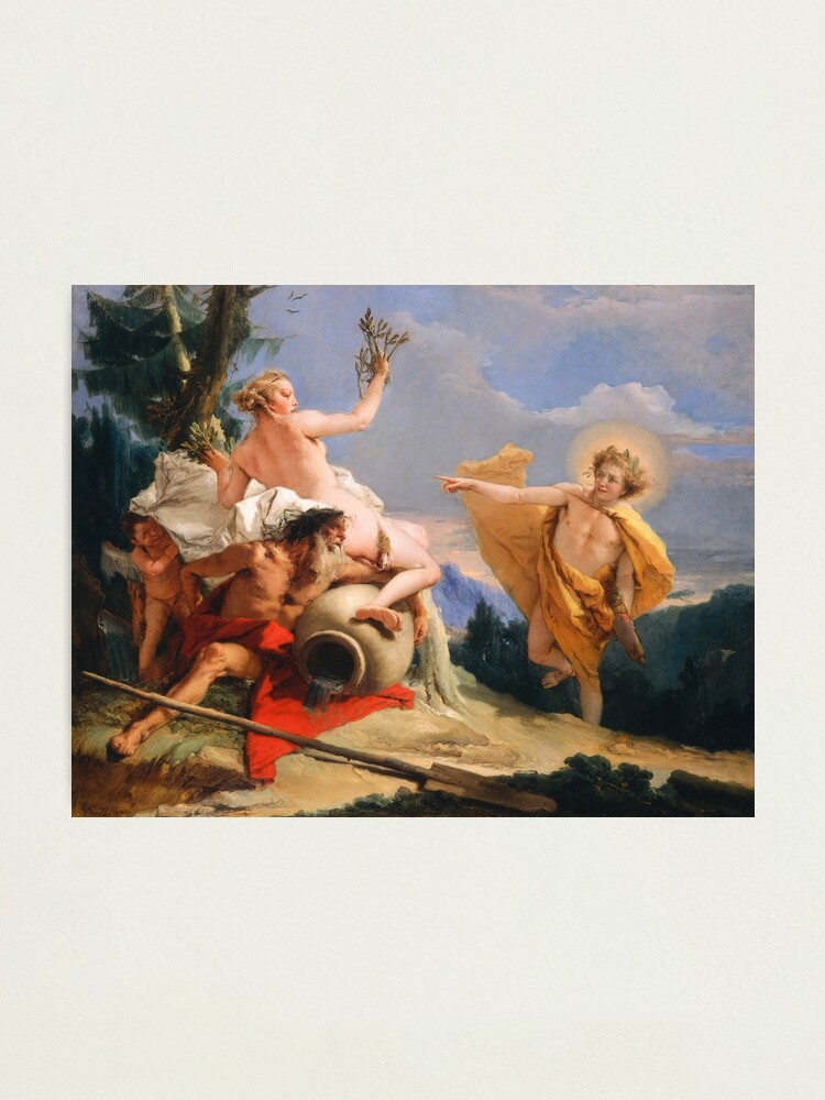 Alternate view of Oil Painting Apollo Pursuing Daphne by Giovanni Battista Tiepolo Photographic Print