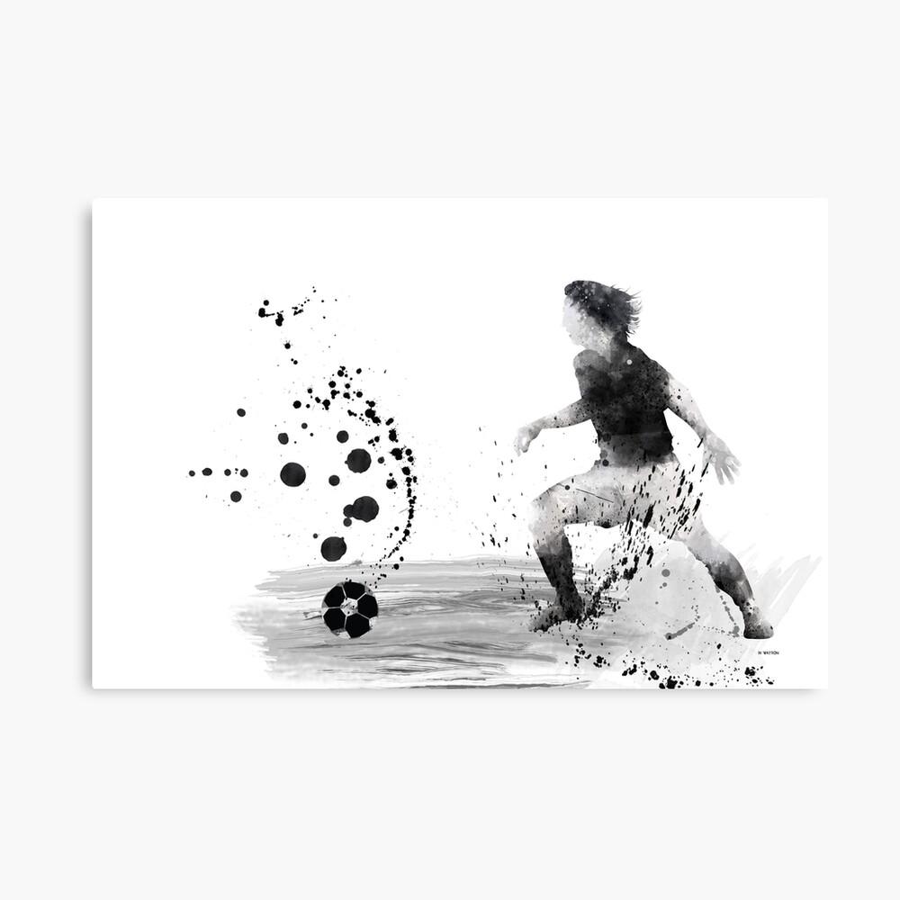 Fußballspieler 8 Leinwanddruck
