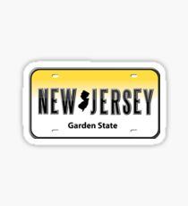 New Jersey License Plate Sticker