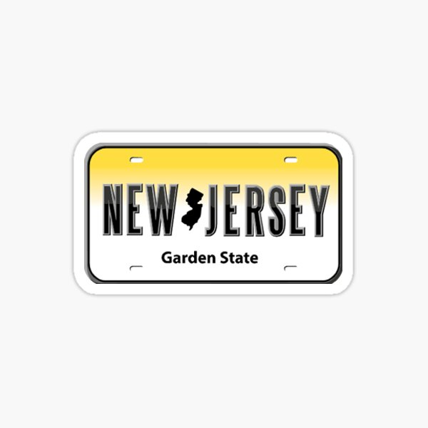 New Jersey License Plate Sticker