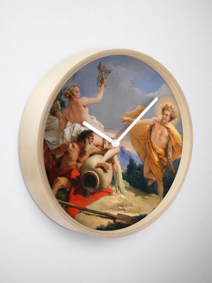 Alternate view of Oil Painting Apollo Pursuing Daphne by Giovanni Battista Tiepolo Clock