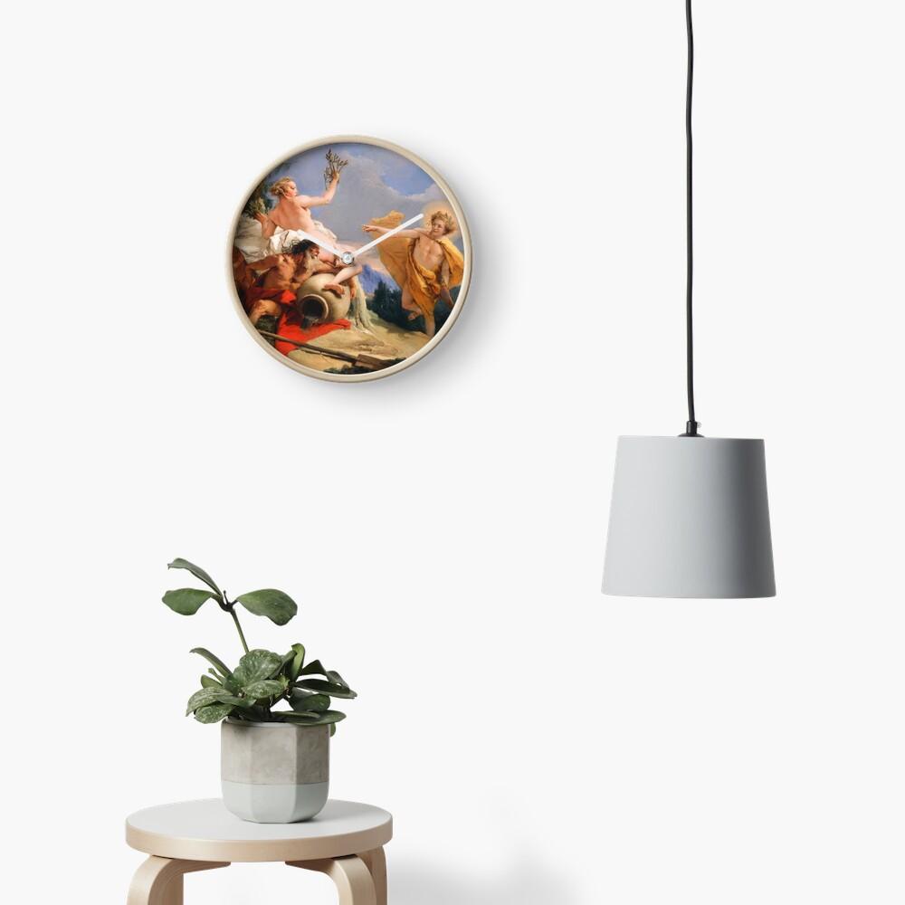 Oil Painting Apollo Pursuing Daphne by Giovanni Battista Tiepolo Clock