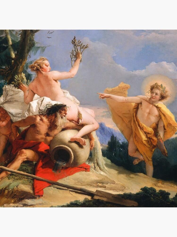 Oil Painting Apollo Pursuing Daphne by Giovanni Battista Tiepolo by podartist