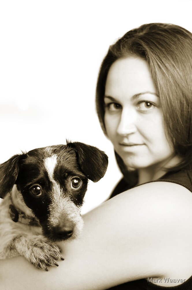 Sarah and Guinness. by Mark Weaver