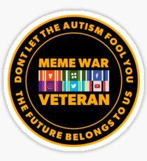 MEME WAR VETERAN Sticker