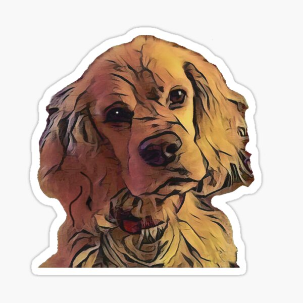 Sweet Cocker Spaniel Dog Sticker