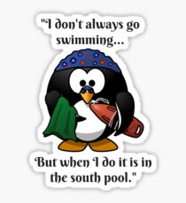 The World's Most Famous Swimming Penguin Sticker