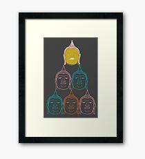 Oriental Buddha's Smile Zen Colorful Pop Art Framed Print