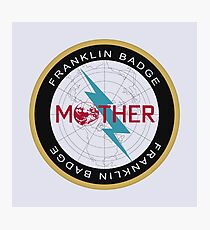 Franklin Badge - Mother/Earthbound Series Photographic Print