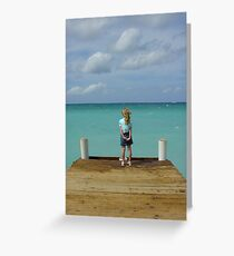 Caymen dock Greeting Card