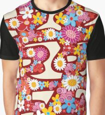 Oriental Double Happiness Spring Flowers in Red, A Traditional And Auspicious Chinese Wedding Symbol Graphic T-Shirt