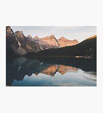 Lake Banff Reflection Photographic Print