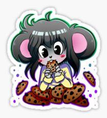 A greedy mouse Sticker