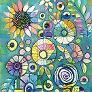 Flowers In Blue by MarikaMakes