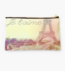 Pastel Eiffel Tower Studio Pouch
