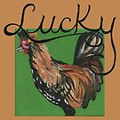 Lucky the Rooster by iinekocat